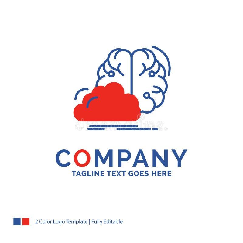 Firmy imienia logo projekt Dla brainstorming, kreatywnie, pomysł, inno royalty ilustracja