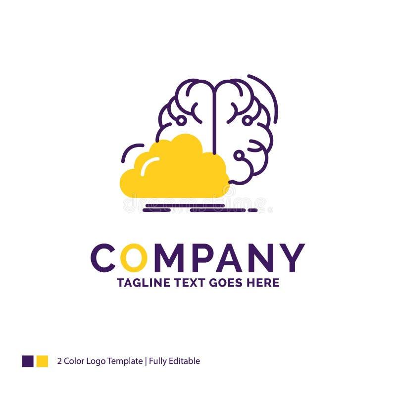 Firmy imienia logo projekt Dla brainstorming, kreatywnie, pomysł, inno ilustracja wektor