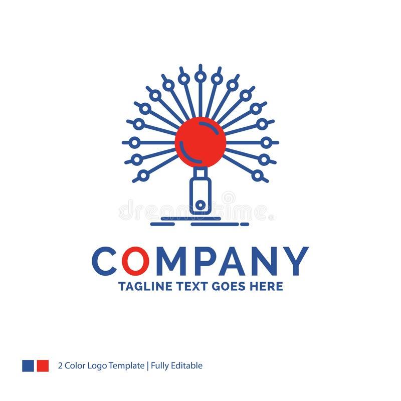 Firmy imienia logo projekt Dla dane, informacja, informational, n royalty ilustracja