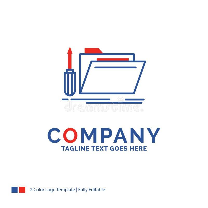 Firmy imienia logo projekt Dla falcówki, narzędzie, naprawa, zasoby, ser ilustracja wektor