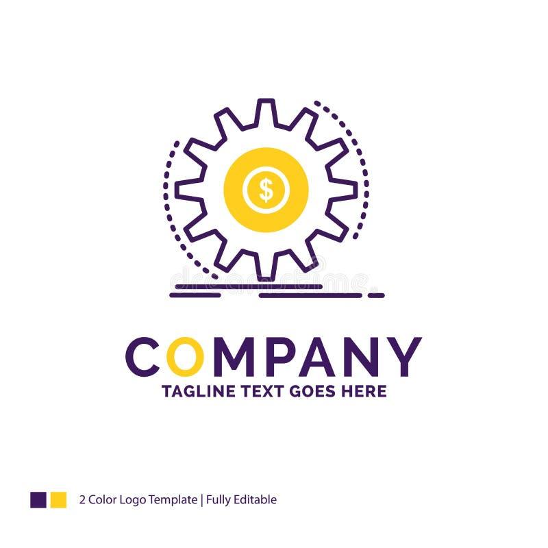 Firmy imienia logo projekt Dla finanse, przepływ, dochód, robi, mone ilustracja wektor