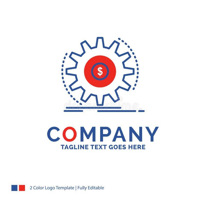 Firmy imienia logo projekt Dla finanse, przepływ, dochód, robi, mone ilustracji