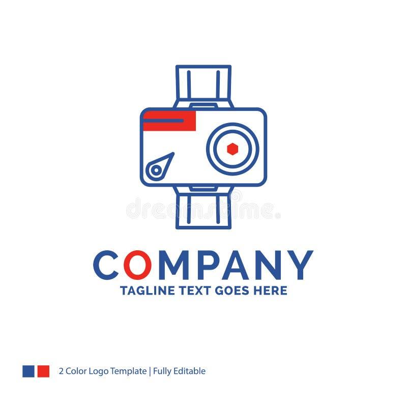 Firmy imienia logo projekt Dla kamery, akcja wideo, cyfrowy, pho ilustracja wektor