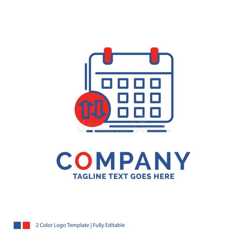Firmy imienia logo projekt Dla rozkładu, klasy, rozkład zajęć, appoi ilustracji
