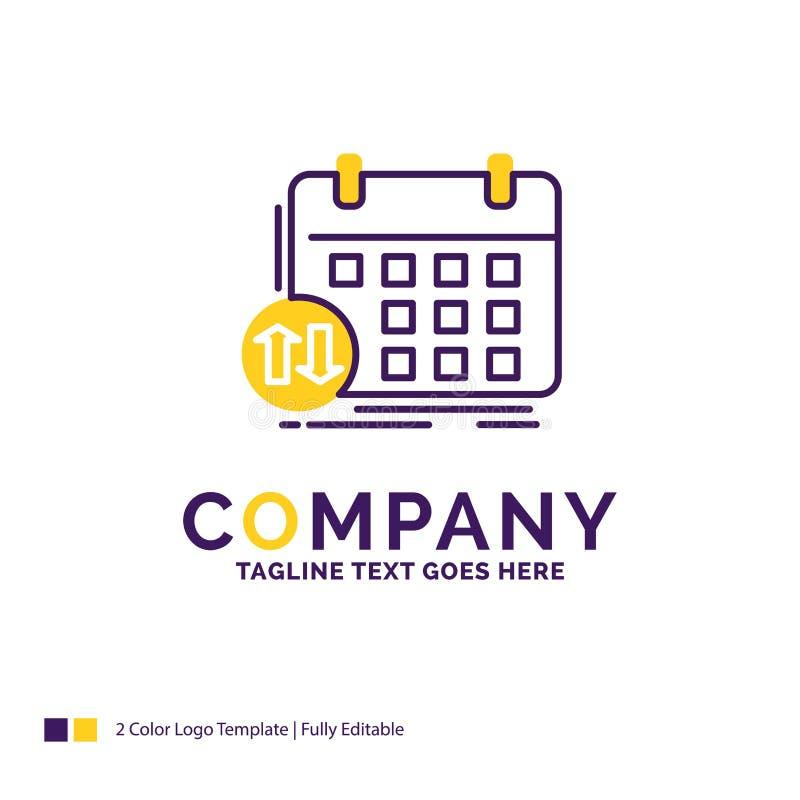 Firmy imienia logo projekt Dla rozkładu, klasy, rozkład zajęć, appoi ilustracja wektor