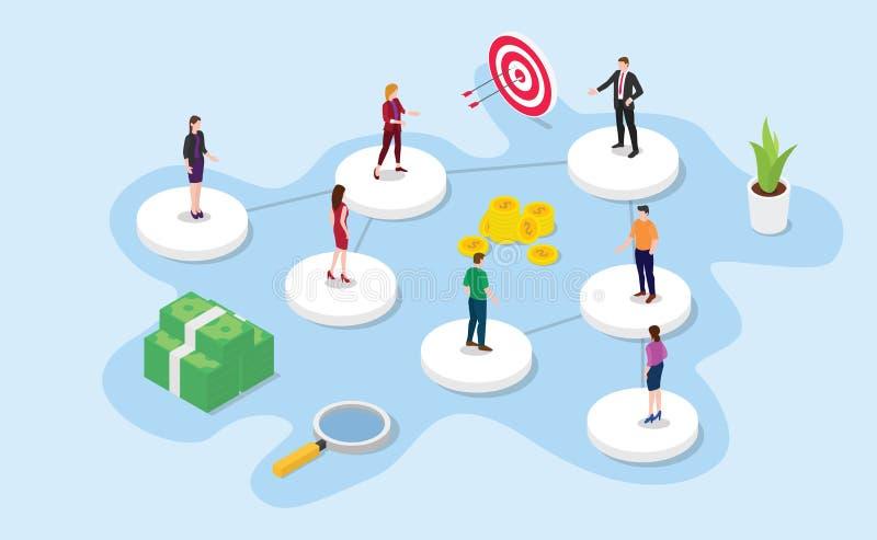 Firmy lub organizacji struktury pojęcie z 3d stylem z nowożytnym koloru projektem - wektor ilustracji