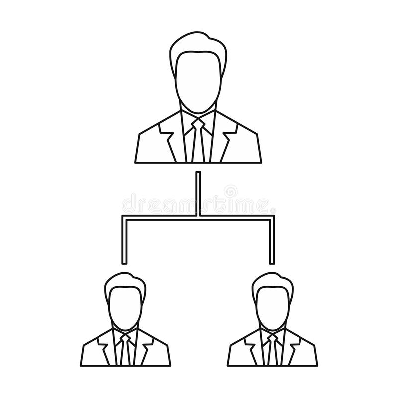 Firmy struktury ikona, konturu styl royalty ilustracja