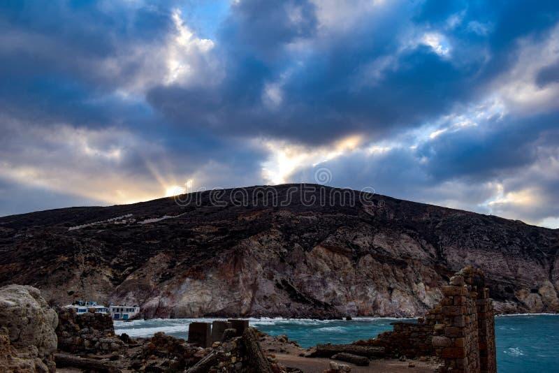 Download Firopotamos stockbild. Bild von griechisch, blau, landschaft - 90234437