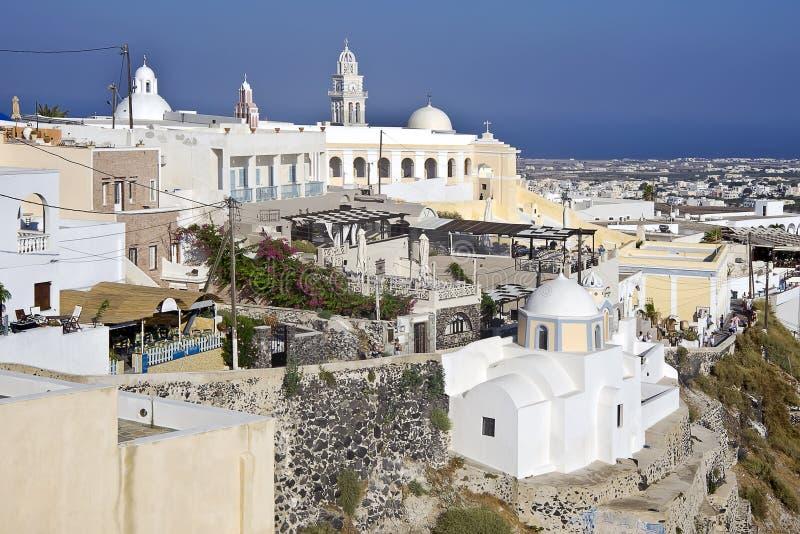Download Firostefani Santorini arkivfoto. Bild av cyclades, solljus - 27280026