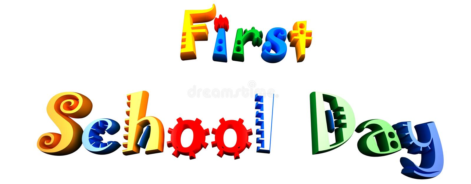 Firs School Day Stock Image