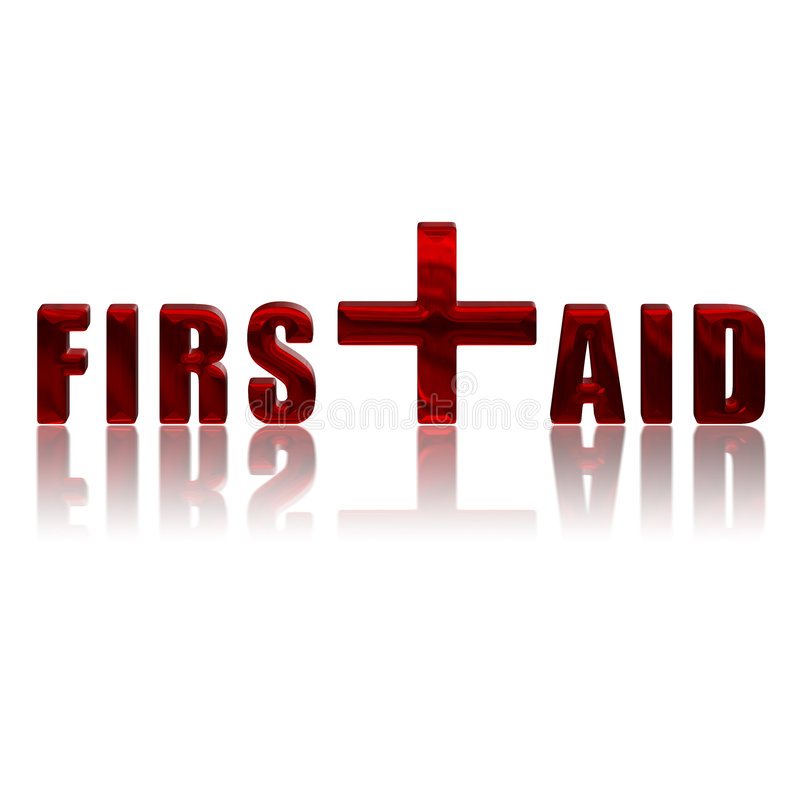 First Aid royalty free illustration