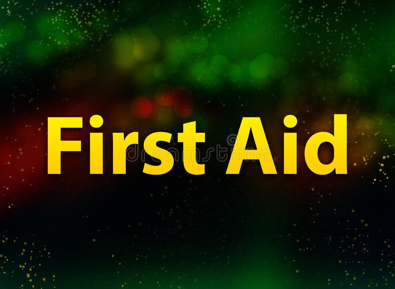First Aid abstract bokeh dark background royalty free illustration