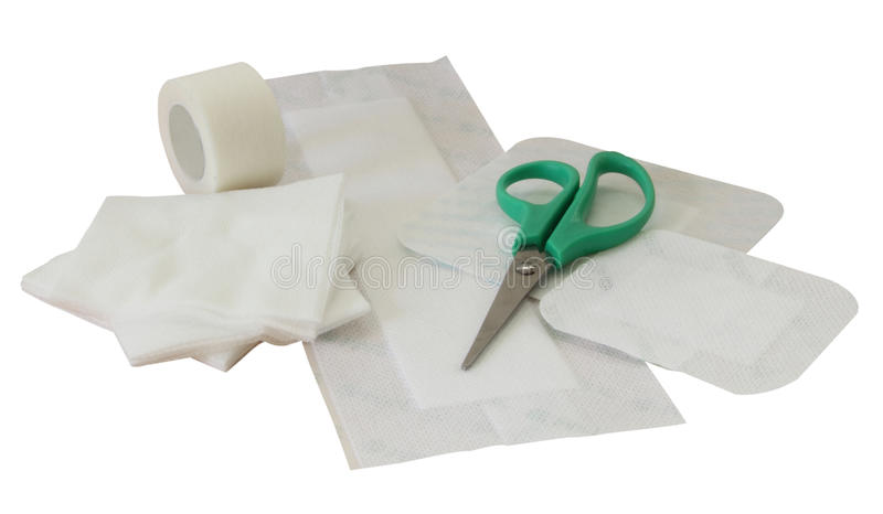 First aid accessories stock images