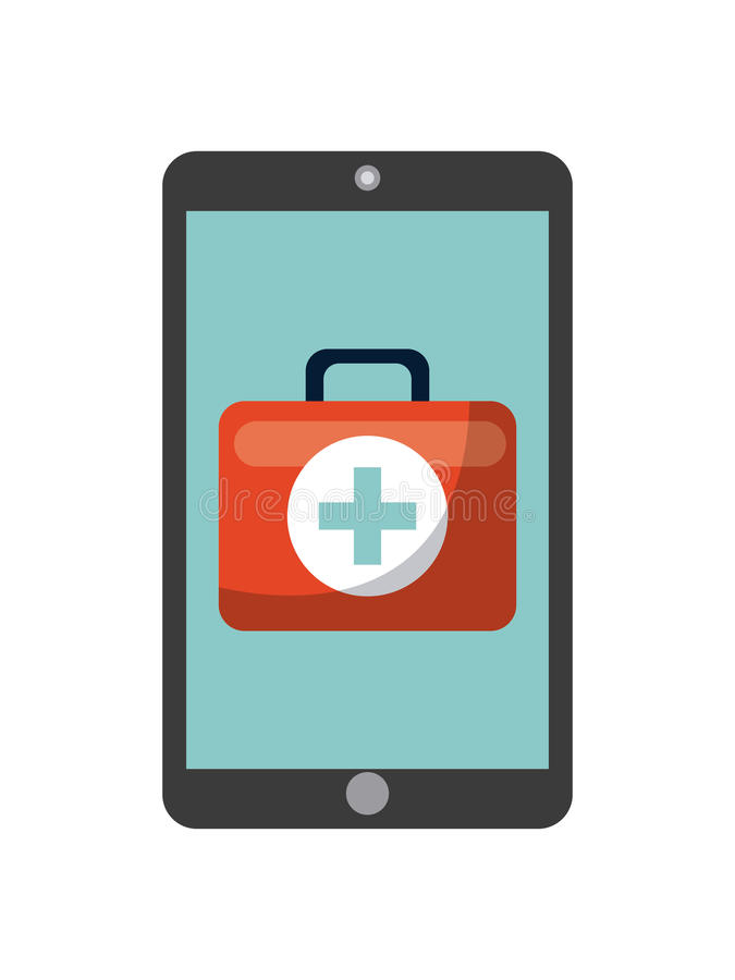 First aid briefcase icon vector illustration