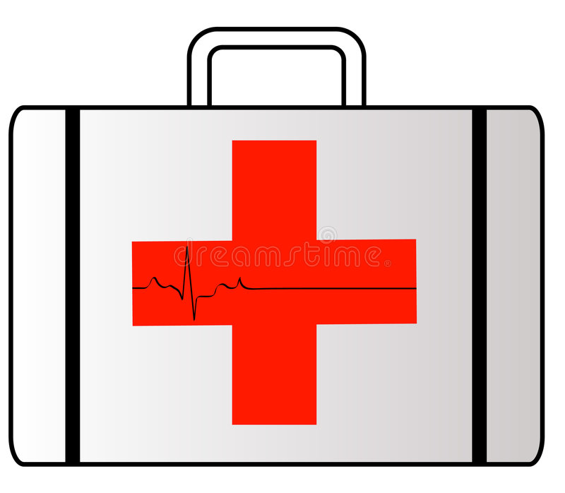 First aid case vector illustration