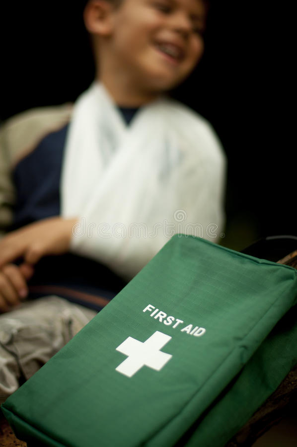First Aid in the Forest royalty free stock photos