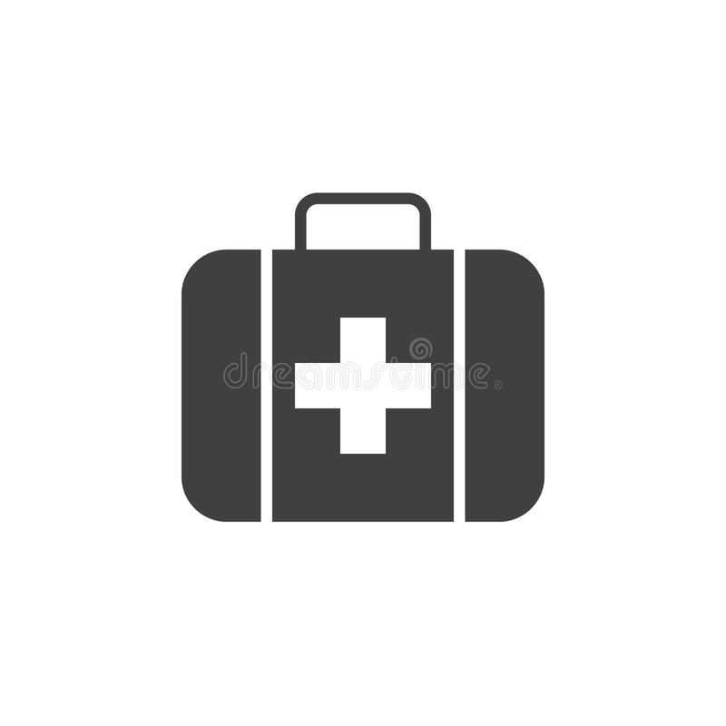First aid icon , solid logo illustration, pictogram isolat. Ed on white vector illustration