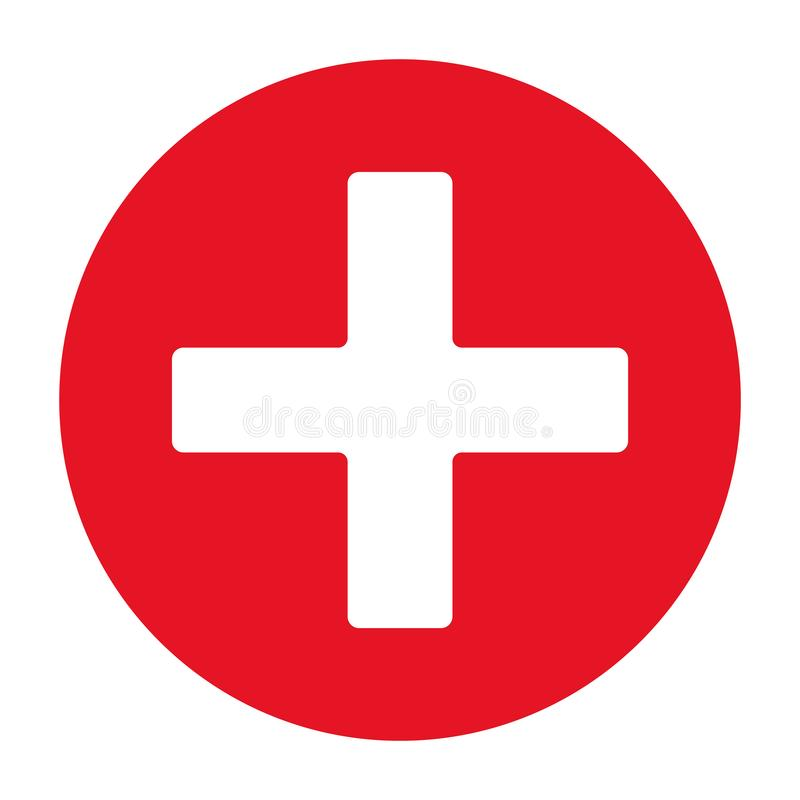 Free First Aid Icon Vector Eps10. Red First Aid Red Cross Sign. Stock Photo - 145948100