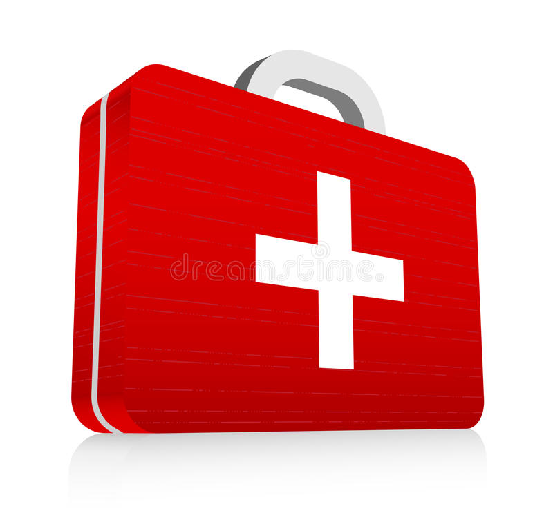 First aid kit. Vector illustration of first aid kit stock illustration