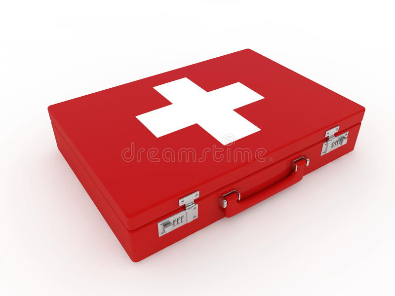 First aid kit. On white background royalty free illustration