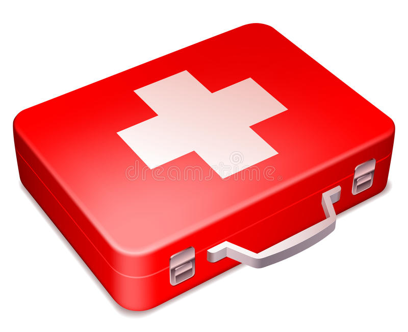 Download First aid kit. stock vector. Image of emergency, shape - 22818446