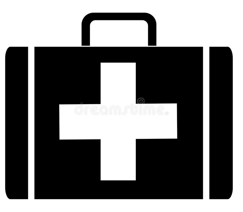 First aid kit royalty free illustration
