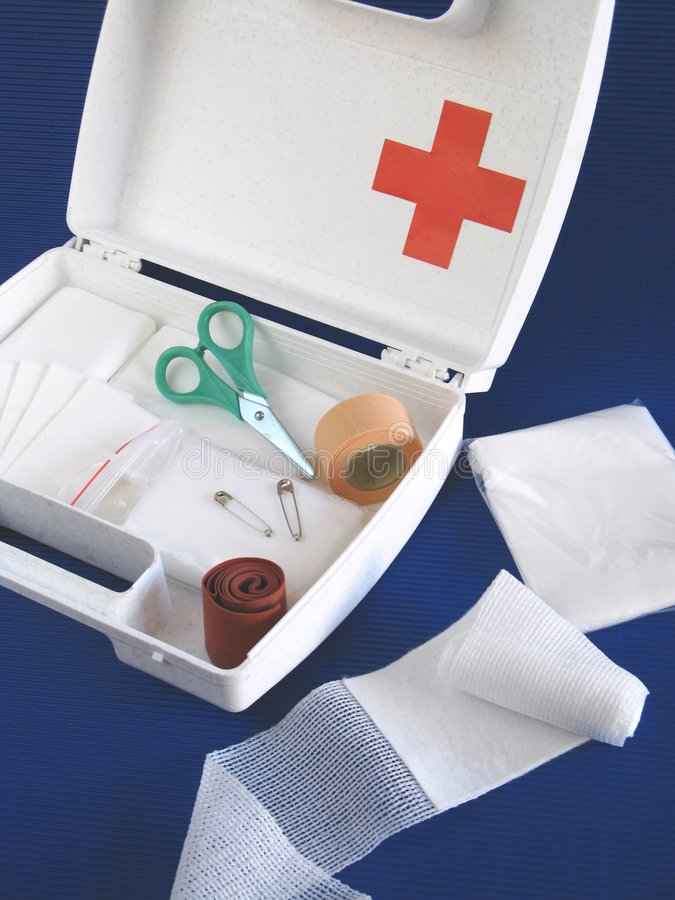 First-aid kit stock photo