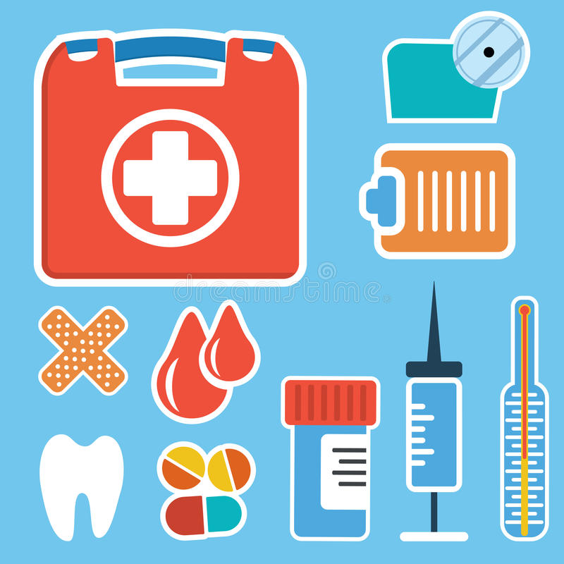 First aid kit box royalty free illustration