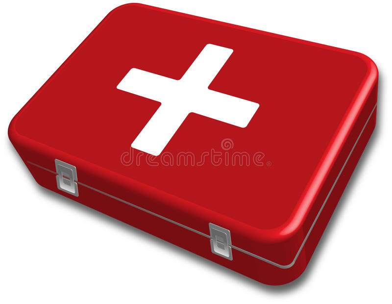 First aid kit box vector royalty free stock photos
