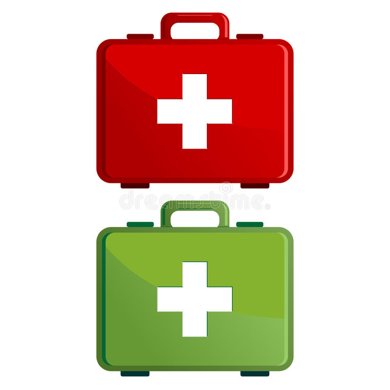 Download First aid kit case stock vector. Image of illustration - 25523022