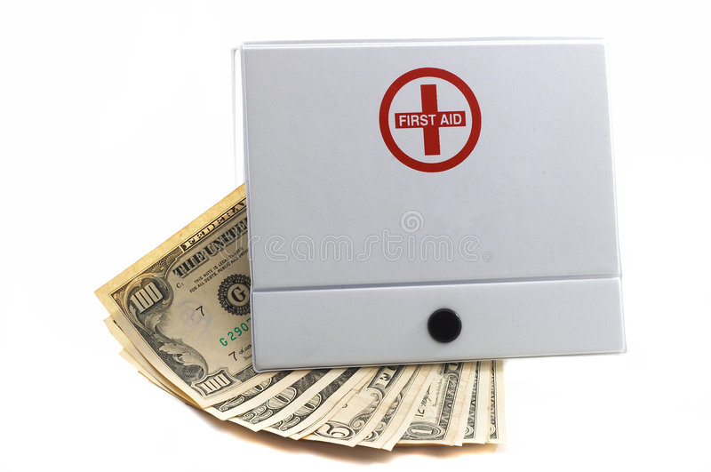 Download First Aid Kit With Cash Royalty Free Stock Photos - Image: 1281898