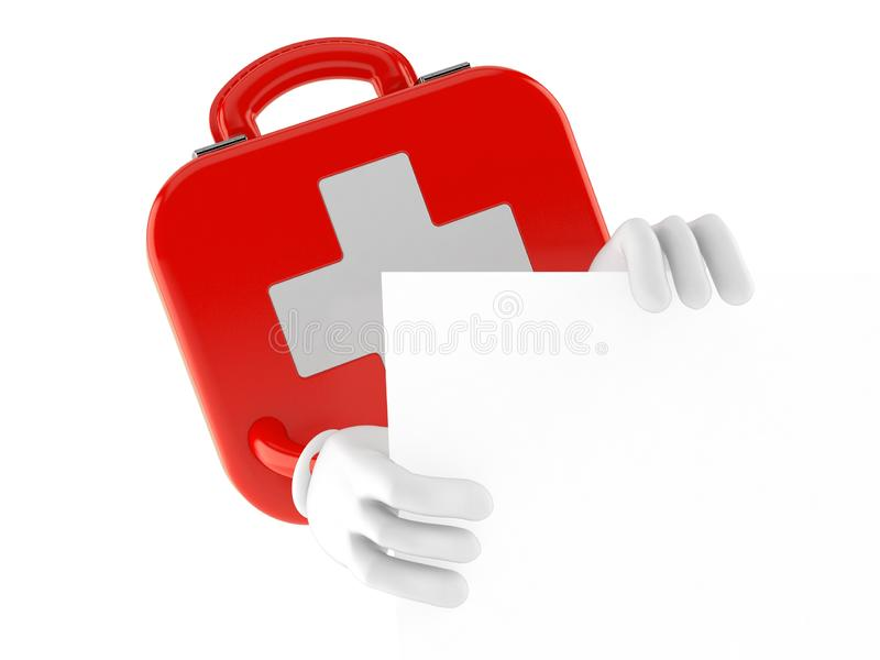 First aid kit character vector illustration