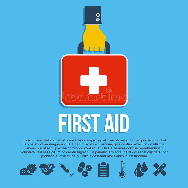 First aid kit concept royalty free illustration