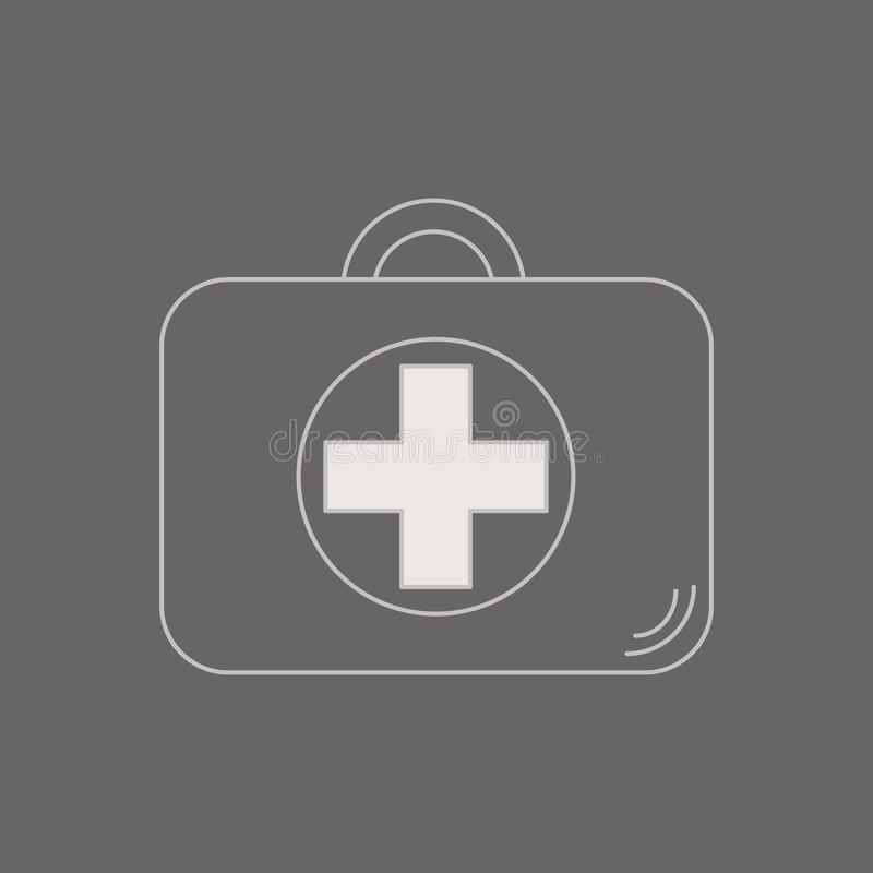 First aid kit. Healthcare, hospital and medical diagnostics. illustration in flat style. medical case. reanimation suitcase stock illustration