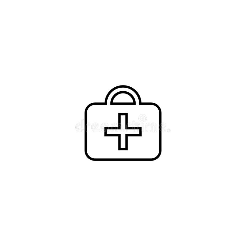 First aid kit icon. Vector on white background vector illustration
