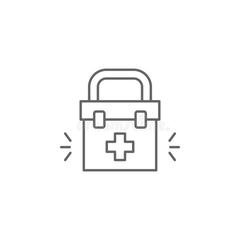 First aid kit, physiotherapy icon. Element of physiotherapy icon. Thin line icon for website design and development, app vector illustration