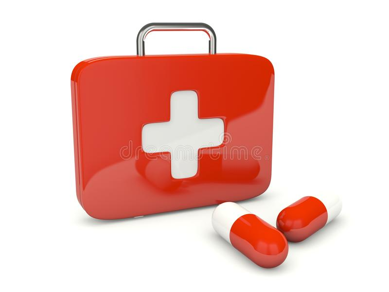 Download First AID Kit With Pills Royalty Free Stock Photo - Image: 19188385