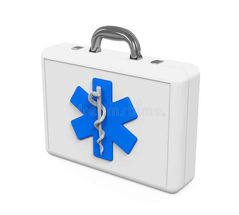 First Aid Kit with Star of Life Symbol royalty free illustration