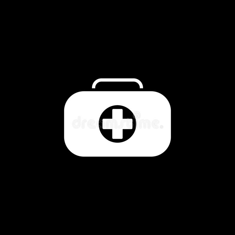 First Aid Kit Symbol and Medical Services Icon. Flat Design vector illustration