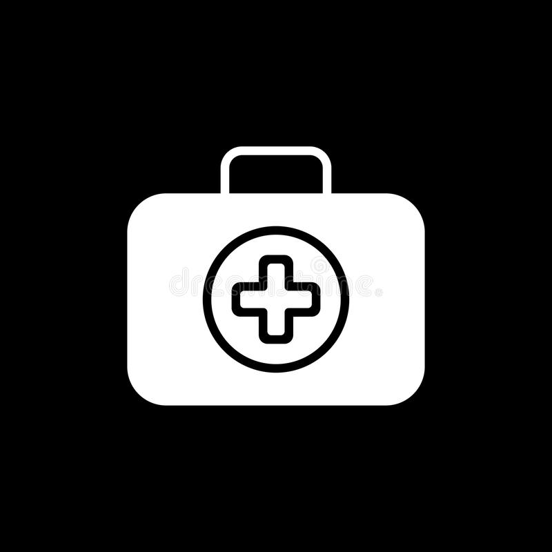 First Aid Kit Symbol and Medical Services Icon. Flat Design. Isolated. royalty free illustration