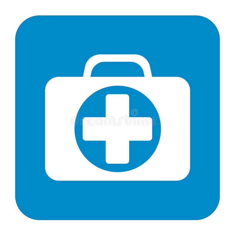 First Aid Kit Symbol and Medical Services Icon royalty free illustration
