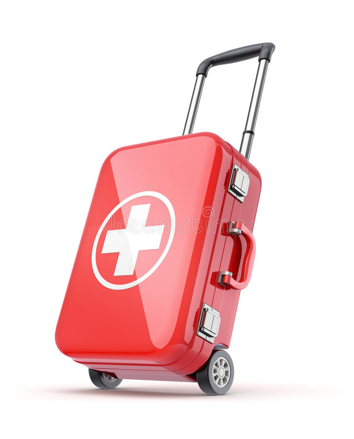 Download First aid kit for travel stock illustration. Illustration of circle - 32297885