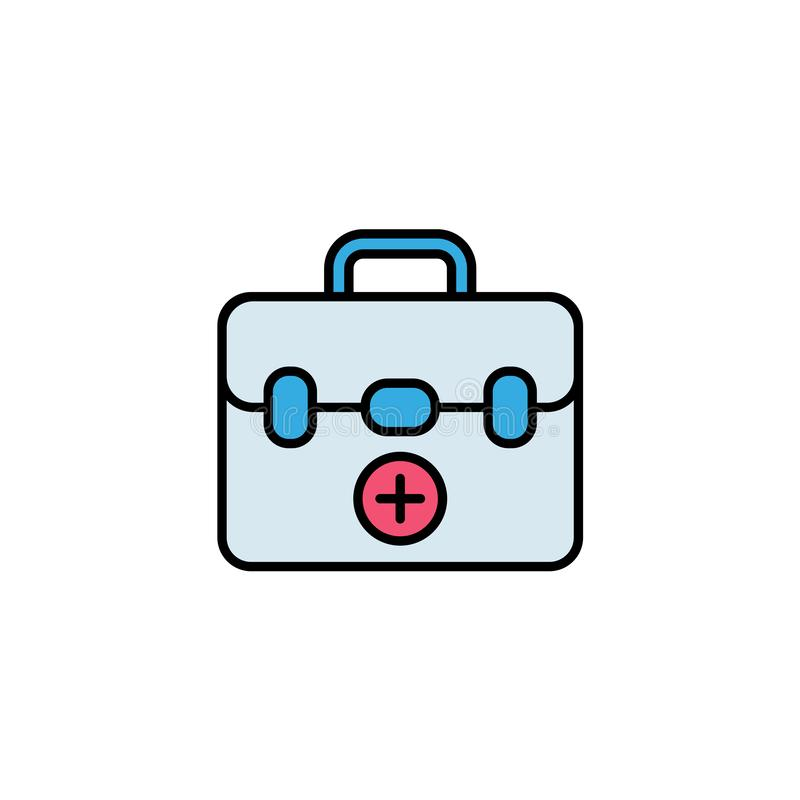 First aid kit vector icon sign symbol stock illustration