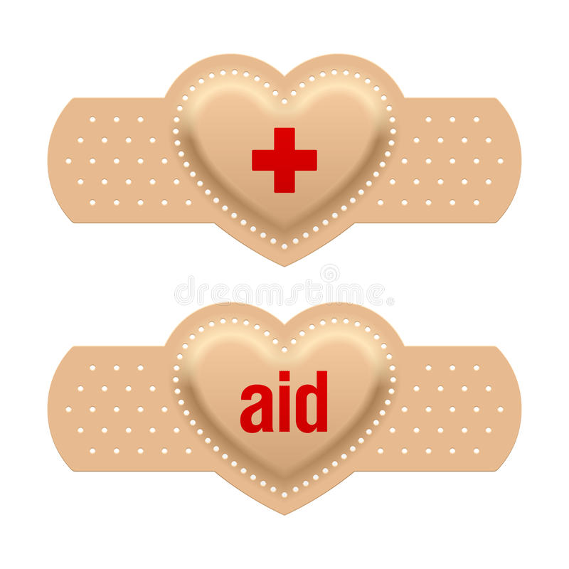 First aid with love. Vector illustration vector illustration