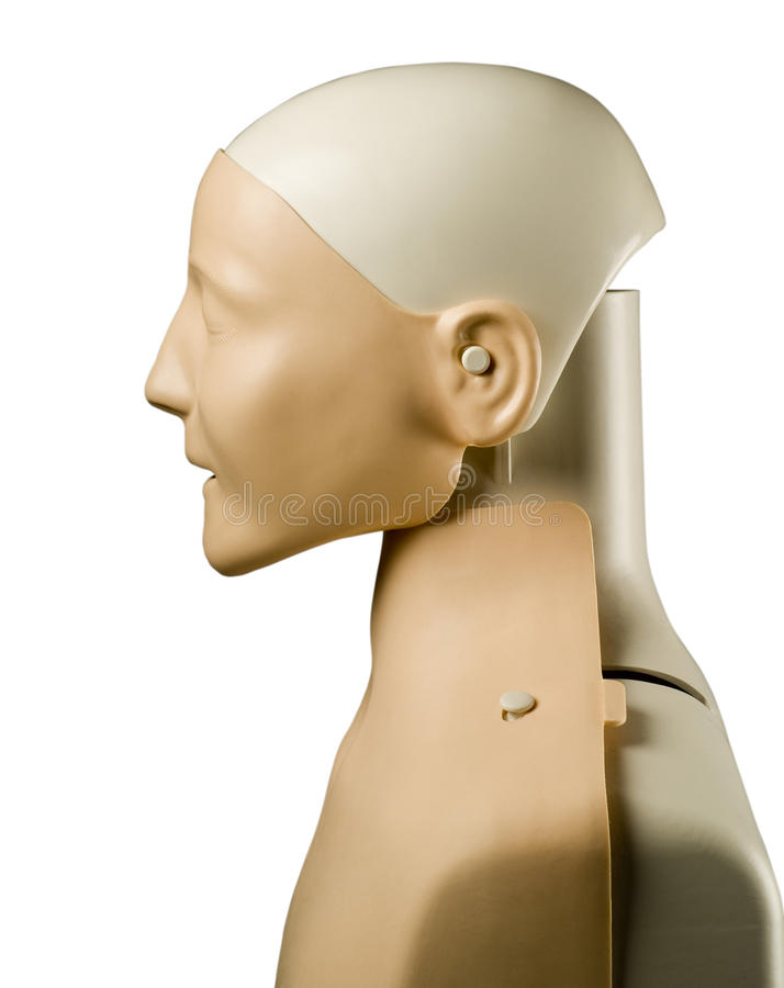 First aid medical mannequin dummy side view stock photos