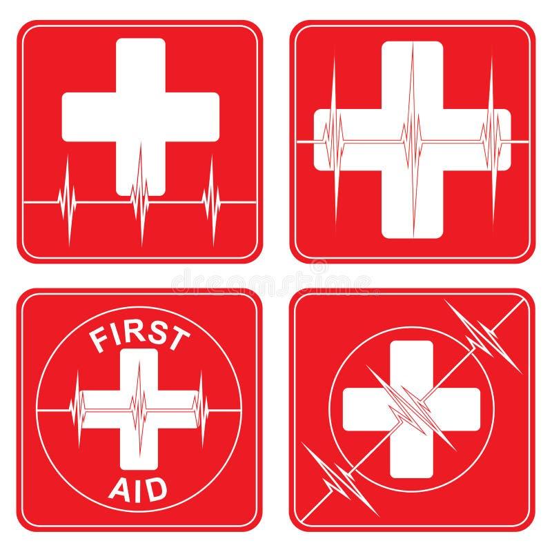 First Aid Medical Symbols vector illustration