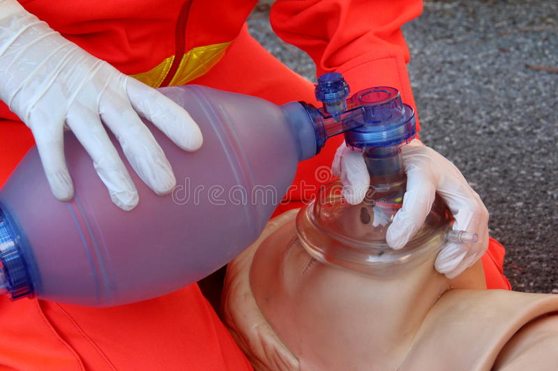 First aid, reanimation royalty free stock photos