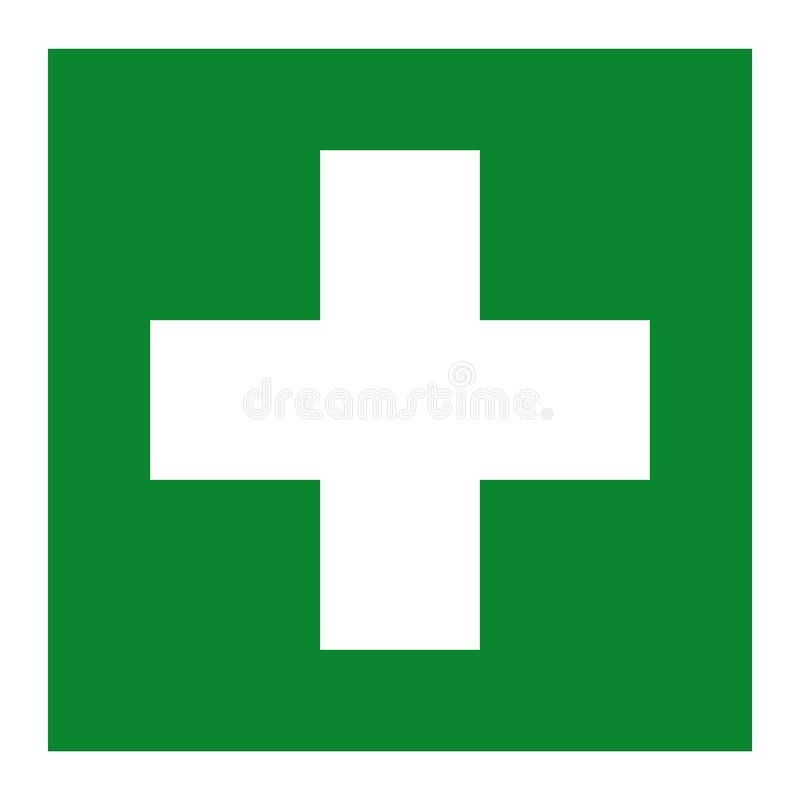 First Aid Room Symbol Isolate On White Background,Vector Illustration EPS.10 stock illustration