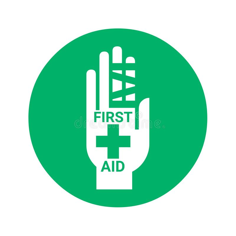 First aid sign icon stock illustration