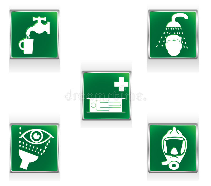 First aid signs vector illustration